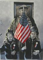 America - American Pride - Oil On Canvas