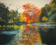Outdoor - Campus Lake - Oil On Canvas