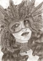 Dark Fantasy - Behind The Mask - Pencil  Paper