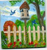 Bird Feeder - Arcylic Paintings - By John T Youlio, Miniature Painting Artist