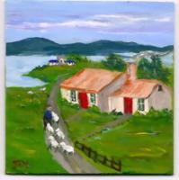 Irish Countryside - Arcylic Paintings - By John T Youlio, Miniature Painting Artist