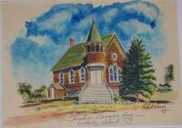 The Church On Wellesley Island - Watercolor Paintings - By Robert Darcy, Realism Painting Artist