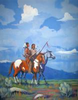 Western Americana - The Captured Sharps - Acrylic On Canvas