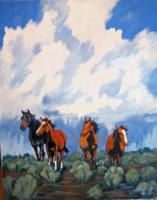 Mustangs - The Brotherhood - Acrylic On Canvas