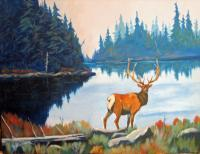 Colorado Wildlife - Serenity - Acrylic On Canvas