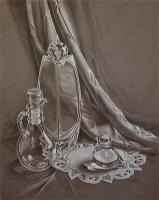 Still Life - Refracted Reflections - Charcoal