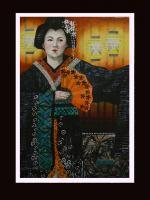 Figurative - Geisha - Mixed Media
