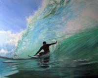 Surf 1 - Acrylics Paintings - By Bryan Hible, Realism Painting Artist