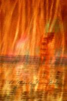 Fire Lake - 35Mm Film Photography - By Steve Bradney, Abstract Photography Artist