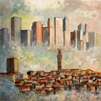 Landcityscapes - Skylines - Acrylic On Canvas