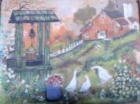 Original Art Work - My Dream Farm House - Water Colour