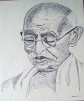 Pen Dot Work - Mahatma Gandhi - Pen Dot Work