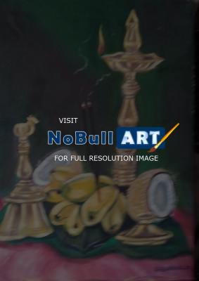 Oil Painting - Pooja Things  Still Life - Oil Painting