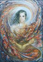 Mystic Art - The Image Of Heavenly Singer Michael Jackson - Oil On Canvas