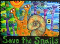 Oddities Collection - Save The Snails - Watercolor