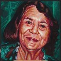Family Members - Dolores Huerta - Oil On Canvas