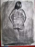 100-722 - Charcoal Art Drawings - By Ruby Chacon, Charcoal Art Drawing Artist