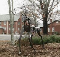 Sculpture - Standing Buck - Steel