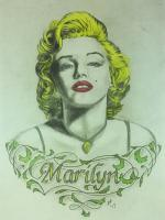 Marilyn - Pencil  Paper Drawings - By Steph Deskins, Traditional Drawing Artist