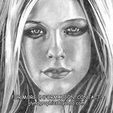 Black And White Pencil Drawing - Avril - Pencil On Cardstock