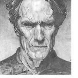 Black And White Pencil Drawing - Eastwood - Pencil On Paper
