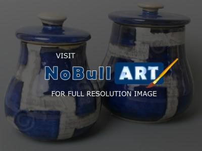 Ceramics - Cannisters In Blue - Clay