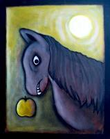 Figurative Art - Horsie Wants You Liver By Danny Hennesy - Acrylics