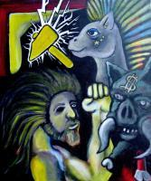 Figurative Art - Odin And Friends - Acrylics