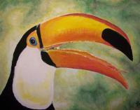 Ornithological Impressionism - Toucan - Watercolor