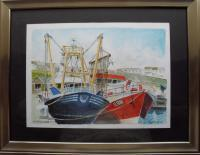 Fine Art - Trawlers At Milford Haven - Watercolour