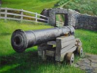 Fine Art - Fishguard Cannon - Acrylics On Canvas