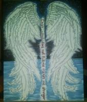 Angel Wings - Canvas Acrylic Paint Paintings - By Jacque Gross, Inspire Painting Artist