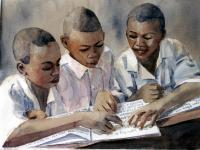 School Days - Honoring Dr King - Watercolor