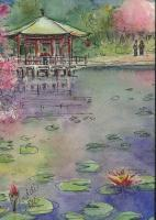 Architectural - Pagoda - Watercolor