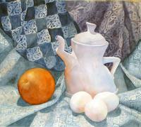 Still Life - Connies Teapot - Watercolor
