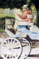 Figurative - Carriage On The Park - Watercolor