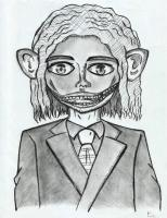 Drawing - Demon In Suit - Mechanical Pencil