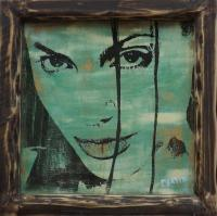 Artistic Woodtransfer Jolie - Acrylic Mixed Media - By Paulo Martin, Pop Art Mixed Media Artist