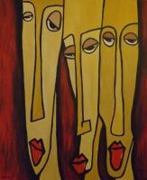 Abstract Face - Pullys - Acrylic