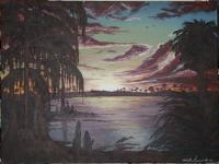Sunsets - The Glades At Dusk - Acrylic On Canvas