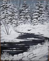 Canvas Paintings - Winter Silence - Acrylic