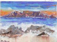 Seascape - Table Mountain South Africa - Acrylic