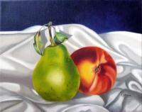Still Life - Green And Sweet - Oil On Canvas