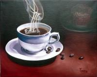 Still Life - Colombian Coffee - Oil On Canvas