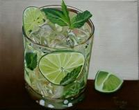 Still Life - Mojito - Oil On Canvas