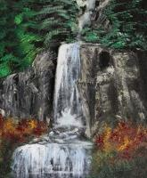 Oil Paintings - Waterfall - Oil