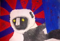 Final - Lemur - Pencil  Paint