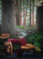 Surreal Figurative - Dreaming Of Muir Woods - Oil On Canvas