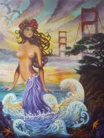 Surreal Figurative - San Francisco Moment - Oil On Canvas