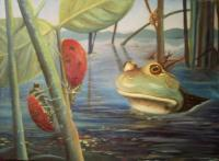 Surreal - Amphibious Fantasy - Oil On Canvas